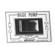 Interrupteur 12 V 3 positions pour pompe de câle