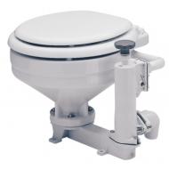 WC porcelaine manuel fixation cuvette standard abattant bois laqué