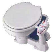 WC porcelaine XL manuel Sealock abattant bois laqué