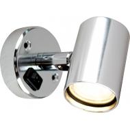 Applique Tube D1 orientable avec interrupteur aluminium