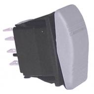 Interrupteur MOM / OFF / ON bi-polaire SIERRA Contura III Gris
