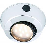 Plafonnier orientable blanc Comet 12 LED avec interrupteur, montage plaqué