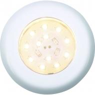 Plafonnier chromé Nova lumière 12 LED blanche et rouge, montage encastré ou plaqué