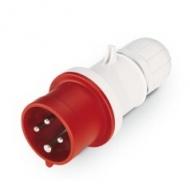 Prise mâle Série Rouge 400 V avec presse étoupe