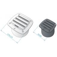 Grille de ventilation 100 mm ROCA blanc