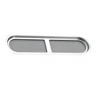 Grille ovale  Inox 304 encastrable 144 x 34 mm
