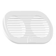 Grille double détachable Polyamide Blanc 255 x 115 mm
