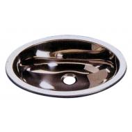 Lavabo ovale inox poli + bonde
