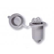 Porte douchette rond blanc avec couvercle