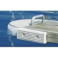 Patin de ponton en caoutchouc blanc