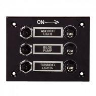 Tableau électrique étanche - 3 positions - bakélite noire