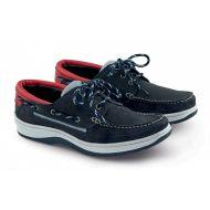 Chaussures Sport bleu marine/cuir rouge Plastimo