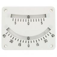 Inclinomètre blanc 0° à 45°