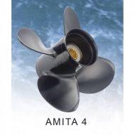 Hélice 25 - 30cv (échappement par hélice, 10 cannelures) AMITA 4 B SUZUKI 4P AL 10X13 R SOLAS