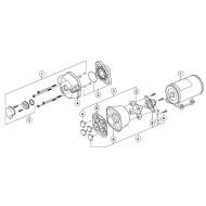 Kit diaphragme groupe d'eau JABSCO Par-Max 1 / 2 / 3 / 4 18920-9043