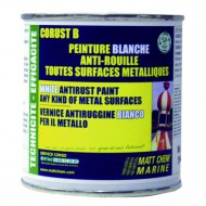 Peinture brillante anti-rouille (blanc) (250ML) MATT CHEM Corust