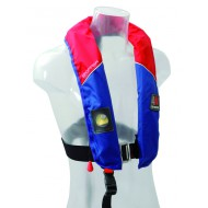 Gilet gonflable 150N avec harnais 4WATER Skipper automatique