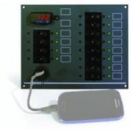 Tableau électrique 12/24V 12 fonctions + prise USB GENOIS