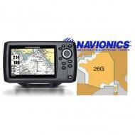 """GPS lecteur de cartes 5"""" + Carte France entière HUMMINBIRD Helix 5 CP"""