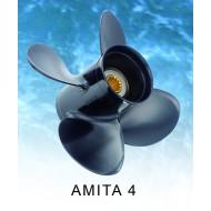 Hélice 20 - 30cv (échappement par hélice, 10 cannelures) AMITA 4 B SUZUKI 4P AL 10X13 R SOLAS