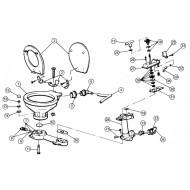 Coude + joint JABSCO pour WC série 29090 / 29120 / 29200
