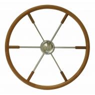 Barre à roue inox / teck Ø 400 mm