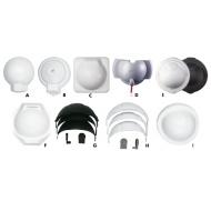 Capots de protection Blanc pour compas Mini-Contest (antérieur à 2009)