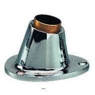 Supports de hampe Laiton chromé à encastrer Hauteur 80 mm Ø 25 mm