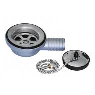 Bonde droite Ø 55 mm pour éviers inox ronds 419234, 410616, 419233, 41896